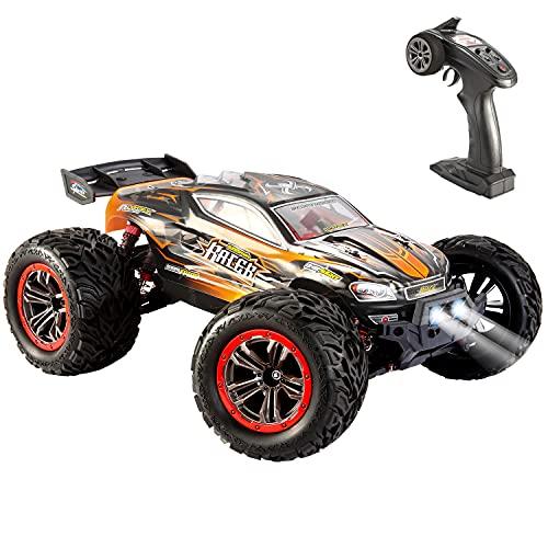 VATOS Ferngesteuertes Auto - 46 km/h 4WD RC Auto Off-Road Buggy 1:12 Maßstab 2,4 Ghz Funkfernsteuerung Elektro Geländewagen Geschenk Spielzeug für Kinder Erwachsene (Orange)