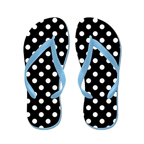 CafePress - Black and White Polka Dot - Flip Flops, Funny Thong Sandals, Beach Sandals