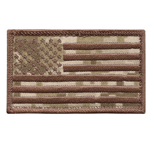 LEGEEON USA American Flag AOR1 2x3.25 Stars and Stripes Tactical Morale Fastener Cap Patch