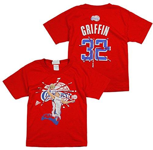 NBA Los Angeles Clippers Blake Griffin # 32de los grandes camiseta de manga corta para roto, color rojo, Rojo