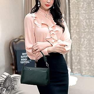 WTYD Single Shoulder Bag PU Leather Casual Shoulder Bag Messenger Bag Ladies Handbag (Gray) (Color : Green)
