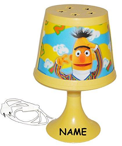 alles-meine.de GmbH Tischlampe Sesamstraße incl. Name - Ernie und Bert - 30 cm hoch magische Lampe - Kinderzimmerlampe - Stehlampe Tischleuchte Kinder Kinderzimmer