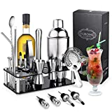 Coctelera de Cóctel 750 ml,Cocktail Shaker Set en Acero Inoxidable Kit Cocktail 16PCS para Vino,Boston,Bebida,Bar,Fiesta,Regalo de Familia