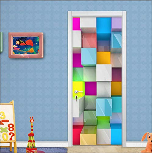 ZPCR Custom Murals Wallpaper 3D Colorful Gird Photo Wall Paper for Living Room Children's Bedroom Door Sticker PVC Waterproof Decor