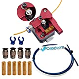 Authentic F1rst Layer Upgraded Dual Gear All Metal Extruder for Ender 3 / Pro/Ender 5 / Pro and All CR Series Printers - 1M Capricorn PTFE Tubing, Premium Bed Springs and Fittings Accessories Kit