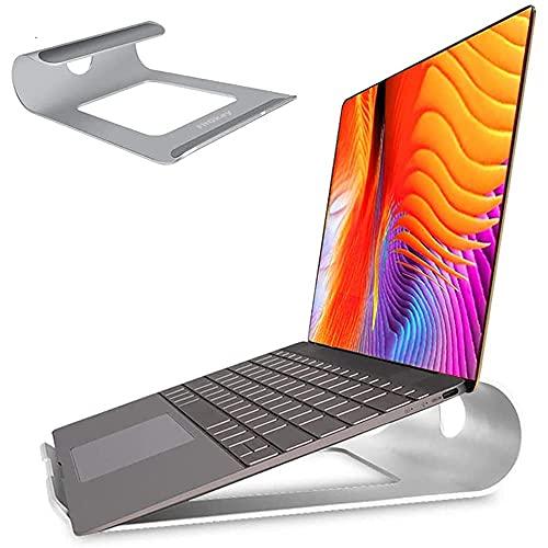 """Soporte Portatil, FitOkay Soporte Portátil Mesa de Aluminio con Ventilación, Soporte Ordenador Portátil para Macbook HP DELL Lenovo y Otros 10-15.6"""" Laptops/Tableta"""