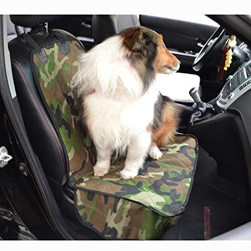 NO LOGO ZQYBH Großhandel Gesteppte Armee grün Tarnung Anti-Rutsch-Dog-Auto-Frontsitzbezug Vordersitzmatte Decke Schutz Tierzubehör (Farbe : Army Green Camouflag, Größe : 52x100cm)
