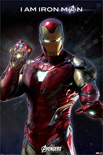 The Avengers Maxi Poster Endgame I Am Iron Man 61 x 91,5 cm Laminato