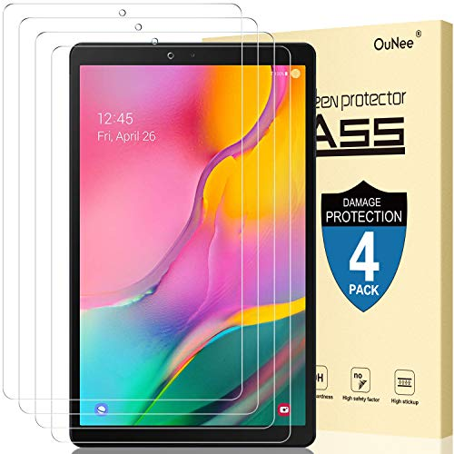 Best Prices! [4 Pack] OuNee Screen Protector for Galaxy Tab A 10.1 2019 Release, SM-T515/T510 Model ...