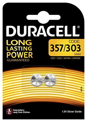 Duracell - 2 palen zilver oxide type 357/303, 1,5 V
