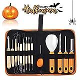 Halloween-Kürbis-Schnitzwerkzeug 14 teiliges Schnitzmesser mit Aufbewahrungstasche