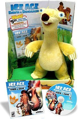 Ice Age Dawn of the Dinosaurs Exclusive Deluxe Plush Sid (Includes Video Game Preview) by Better Sourcing