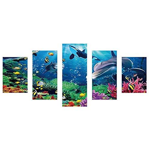Lomelomme diamond painting strass complet 5 Vice trendy kit canevas avec fils loisirs créatifs adultes-Pissenlit bleu, pollen flou, tigre, monde sous-marin diamond painting