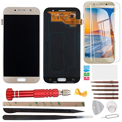 YHX-OU Pantalla táctil LCD de 5,2 pulgadas para Samsung Galaxy A5 A520 A520F 2017 con herramientas completas (dorado)