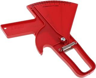 freneci Fitness 0-80mm Body Fat Loss Caliper Charts Slim Keep Measuring Instrument - Red, 0-80mm