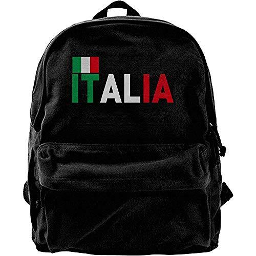 Oxford Backpack,Notizbuch Reiserucksack,Laptop Rucksack,Schulrucksack,Computer Rucksäcke,Italienische Flagge Notebook Laptoptasche,Casual Schulter Rucksack