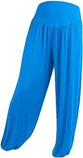 Tivivose パンツ ワイドレッグパンツ レディース 女性 人気 お洒落 ワイドパンツ ハイウエスト ファッション カジュアル シンブル 無地 Women Fashion Solid Elasticity Leggings Bell-bottoms Pants