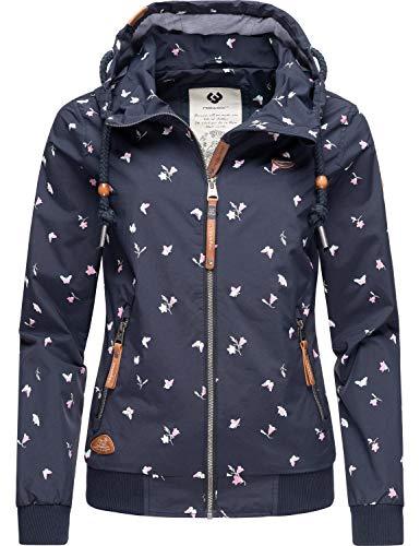 Ragwear Damen Übergangsjacke Regenjacke mit Kapuze Nuggie A Navy Gr. M