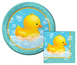 Bubble Bath Lunch Napkins & Dinner Plates Party Kit