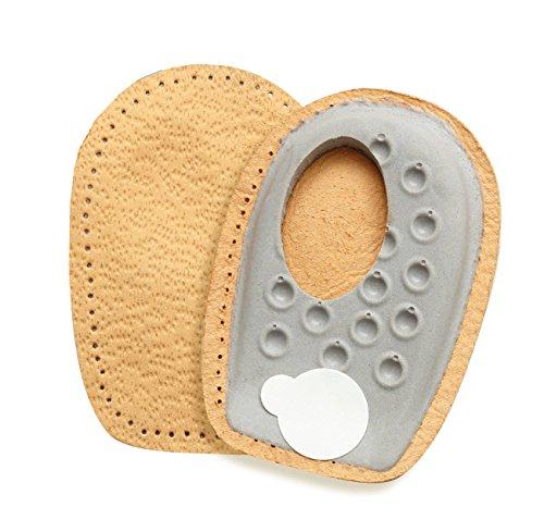 FabaCare Premium Schuheinlagen Heel Side Spar, Leder Fersenpolster für seitlichen Fersensporn, Fersenkissen, Fersenkeil, Einlage für bequemes Gehen und Laufen, Größe S