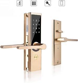 Cerradura de puerta inteligente, A4 WiFi BT cifrado remoto Cerradura de puerta inteligente Cerradura antirrobo de la puert...