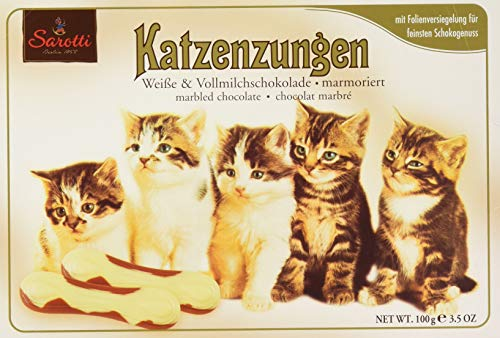 Katzenzungen White and Milk Chocolate 100g