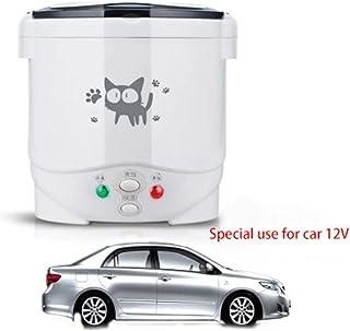 Forart Mini arrocera Olla a Vapor lonchera eléctrica para automóvil, 12V / 24V multifunción 1.0L Mini arrocera, arrocera eléctrica para 1-2 Personas