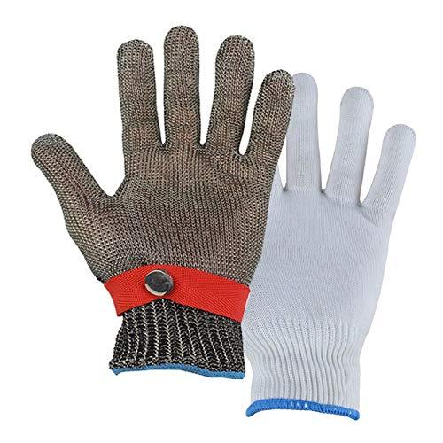 Schnittfeste Handschuhe Cut-resistente 316L-Stahlhandschuhe, Sicherheitsarbeitshandschuhe Mit Einstellbaren Armbandgurten, Anti-Katzen Und Hunden, Die Handschuhe Kratzen (Size : Small)