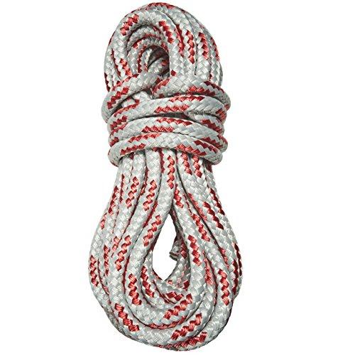 Joile Schot Seil Leine Tau Fall 10mm stark für Segeln Klettern Spielen Takelage Großsegel Fock Spinnaker (grau/rot, 20)
