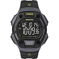 Adjustable black 18mm resin strap fits up to 8-inch wrist circumference 100-hour chronograph with 30-lap memory; 24-hour countdown timer 3 daily, weekday or weekend alarms; 24-hour military time mode; 2 time zones; day, date and month calendar Gray a...