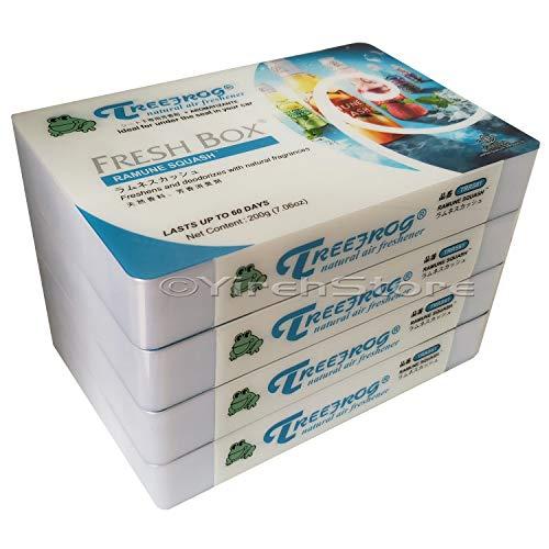 Ramune Squash Scent (Lemon Lime Squash Scent) 4 Pack, Treefrog Natural Air Freshener Fresh Box (AKA Xtreme Fresh)