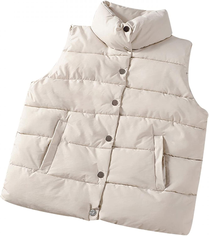Yowein Women's Casual Warm Sleeveless Coat Full Zipper Slim Lightweight Quilted Winter Girls Vest Jacket Stand-up Collar