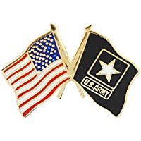 U.S. ARMY, Cross Flag USA & ARMY Small - Original Artwork, Expertly Designed PIN - 1""