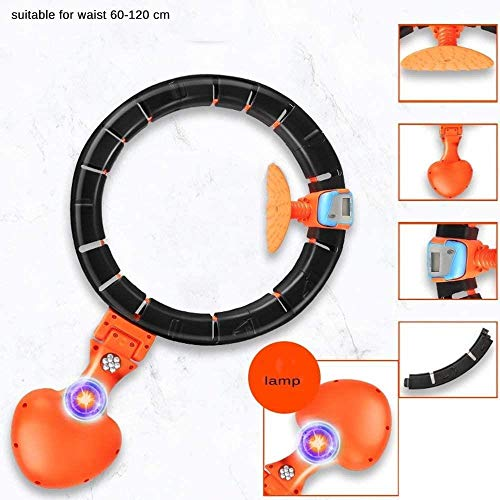 Buy Discount HTZ Smart Weight Loss Ring with Counter,Hula Hoops with Lights, Portable and Detachable Fitness Exercise Equipment That Will Not Fall
