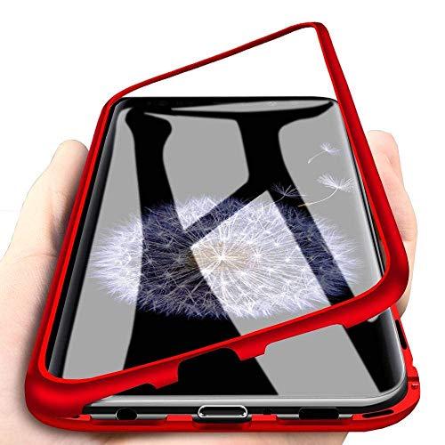 Funda Samsung Galaxy S7 Edge, [Adsorción Magnética] Marco de Metal Carcasa de...