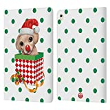 Head Case Designs Officiel Animal Club International Chien 2 Boite de Noël Coque en Cuir à...