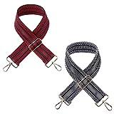 Lmix - 2 correas para bolso de mujer de repuesto, correa de bolso bandolera grande, asas para bolsos DIY, hebillas para bolsos bandolera (rojo y negro)