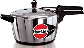 Hawkins Ventura Hard Anodised Black Base Pressure Cooker, 5.0-Litre