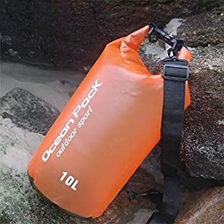 FFX Outdoor Waterproof Dry Bag Dry Sack PVC Barrel Bag, Capacity: 2L (Orange) Outdoor Bags (Color : Orange)