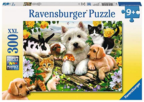 Ravensburger Happy Animal Buddies - 300 Piece Jigsaw Puzzle for Kids – Every Piece is Unique, Pieces Fit Together Perfectly