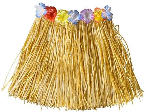 Simply Gorgeous Natural Girls Hawaiian Grass Skirt Flower Hula Lei Garland Fancy Dress Costume