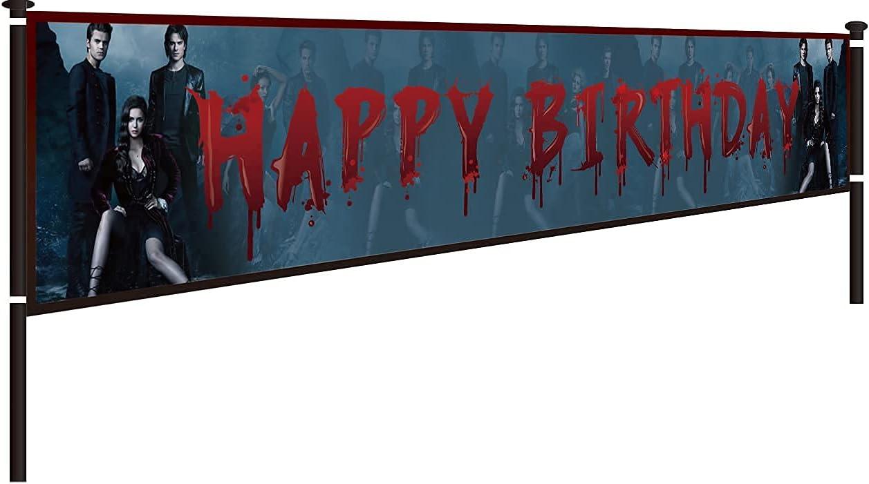 Vampire Diaries Birthday Decorations, Vampire Diaries Happy Birt