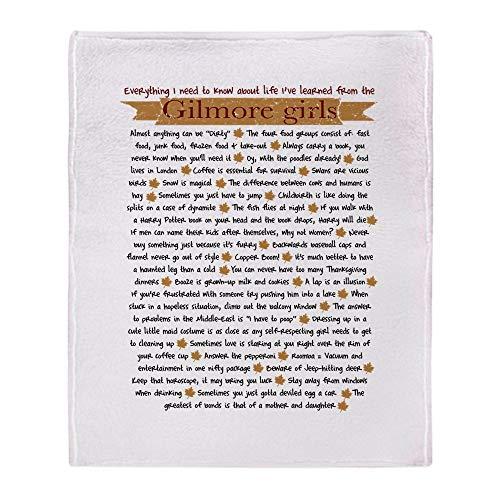 YISUMEI Decke 150x200 cm Kuscheldecken Sanft Flanell Weich Fleecedecke Bettüberwurf Gilmore Girls Lektionen fürs Leben