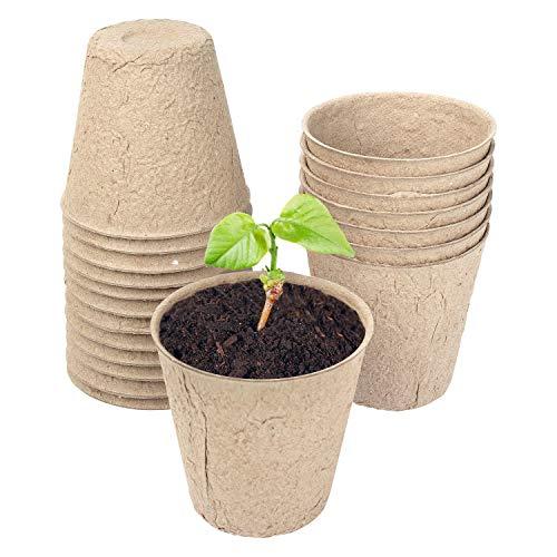 Schramm® Pflanztöpfe Anzuchttöpfe aus Zellulose 20, 50 oder 100 Stück Höhe: ca. 8 cm Anzucht Töpfe Pflanztopf Pflanztöpfe, Anzahl:20 Stück