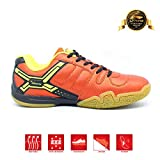 Li-Ning SAGA No.10 [AYTP041-4] Mesh Badminton Shoes, 6 UK (Orange/Lime)