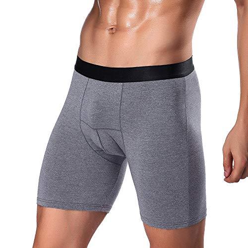 Mode Herren Boxershorts Sportboxershorts Lange Gentleman Laufen Unterwäsche Tragen Bein Boxer Briefs Trainingsshorts Unterhosen