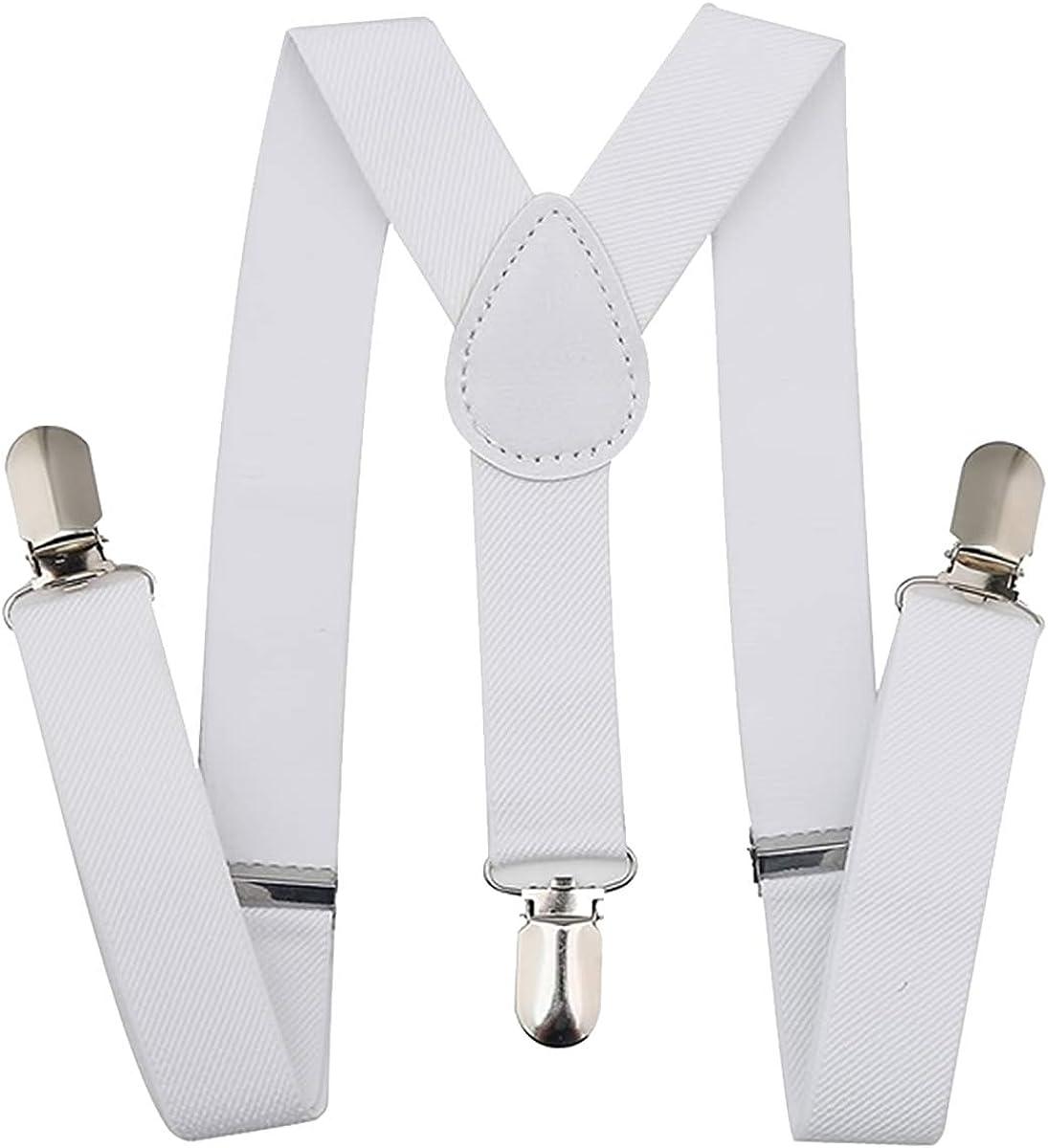 Trimming Shop Men's 25mm Wide Braces Suspenders Elastic