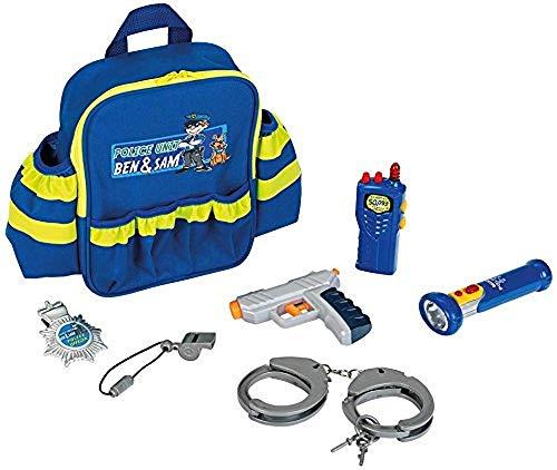 Theo Klein 8802 8802-Polizei Rucksack mit vielen Polizeiutensilien, Spielzeug, Blau