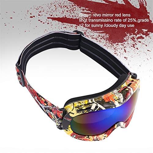 N\A Gafas de esquí para deportes al aire libre con imán que cambia la lente rápida protección UV400, antivaho, esférica, sin marco (color: antivaho para niños)