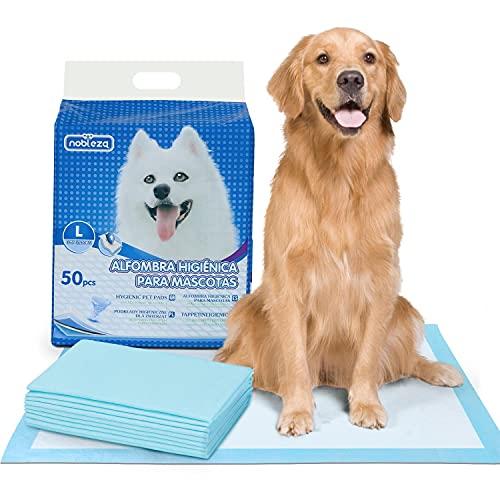 Nobleza - 50 x Empapadores Perros Alfombrilla higiénica de Entrenamiento para Perros. Ultraabsorbente 90cm*60cm